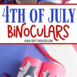 Celebrate fireworks and the 4th of July with these fun Patriotic Toilet Paper Roll Binoculars. This easy kids' craft is a great way to recycle those empty TP rolls.