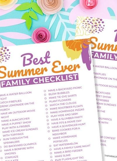 Ready to kick off the summer? Download this free Fun Printable Family Summer Bucket List. These Summer family activities are great for the entire family.