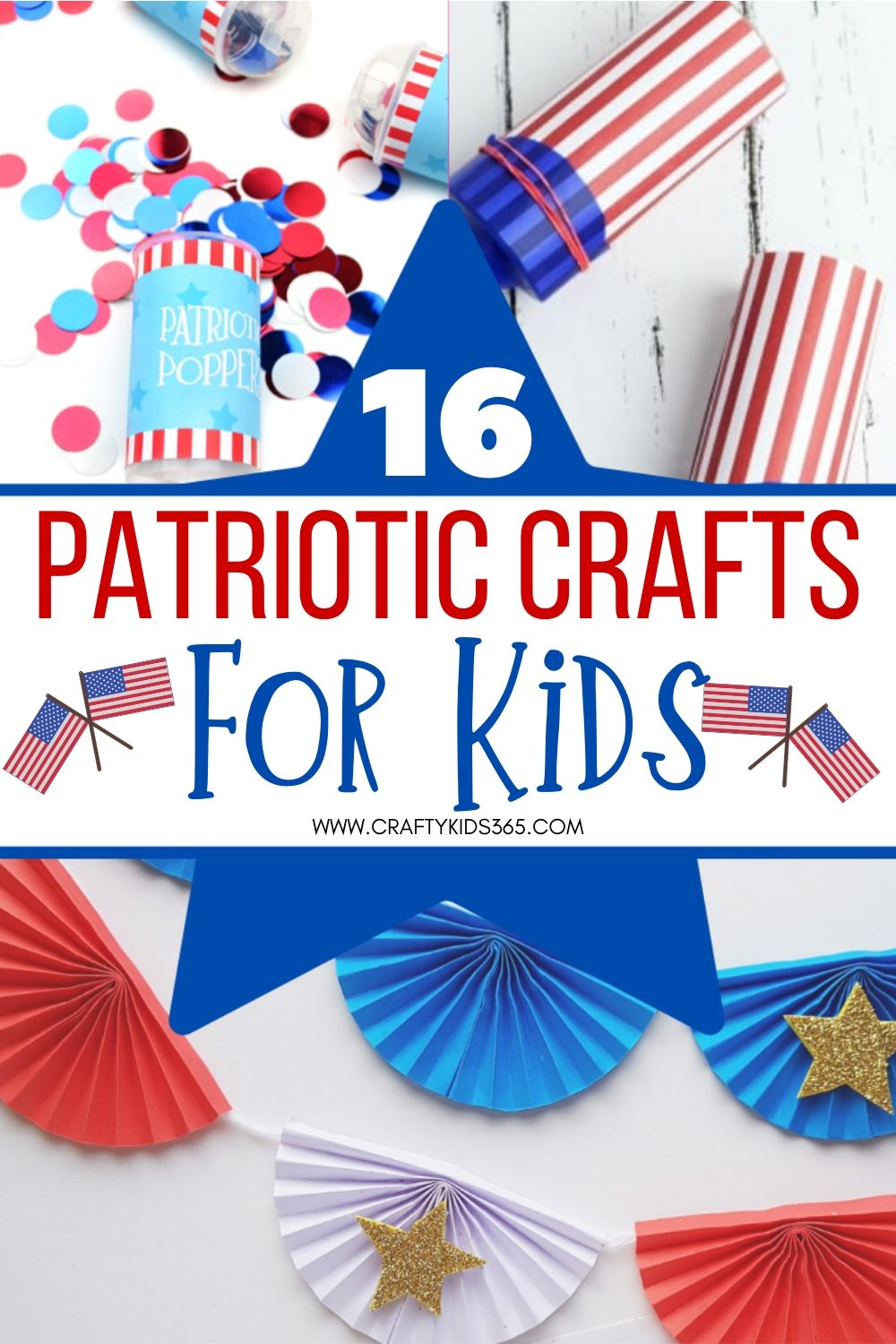 Show your love of red, white and blue. Kids will love to make one of these easy Patriotic Crafts for Kids. Fun craft ideas for any patriotic holiday.