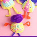 Collecting Seashells at the beach is fun! Turn them into something creative and make this easy Seashell Monster Craft for kids.