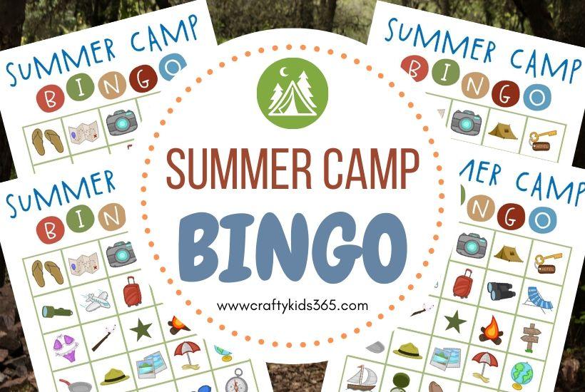 Free Printable Summer Camp Bingo
