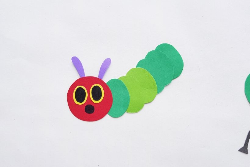 Very Hungry Caterpillar puppet Craft