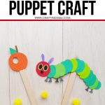 Did you read The Very Hungry Caterpillar? This Very Hungry Caterpillar Puppet Craft is a fun preschool kids craft to accompany the popular children's book. Add this easy Very Hungry Caterpillar craft for kids to your school lesson plans, homeschool plan or make with your kids. This is a great craft to accompany your life and plant cycle curriculum. Download this free Very Hungry Caterpillar Puppet craft template today for your students or kids.