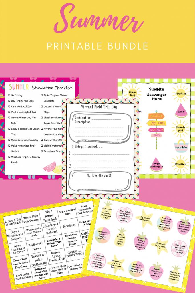 printable activity bundle for kids